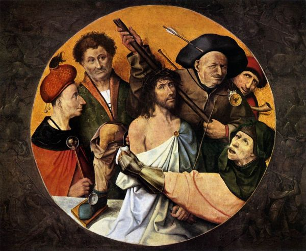 Bosch, Hieronymus: Christ Crowned with Thorns. Religious Fine Art Print/Poster. Sizes: A4/A3/A2/A1 (00860)